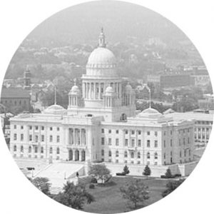 old picture of providence in black and white