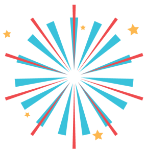 fun graphic of fourth of july fireworks