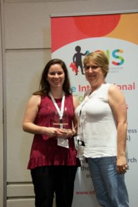 Stephanie De Anda (Outstanding Dissertation Award) and Lisa Oakes (President-Elect)