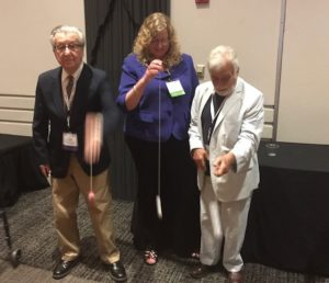 Lew Lipsitt, Kim Boller and Michae Lewis practicing with the ICIS yoyos!